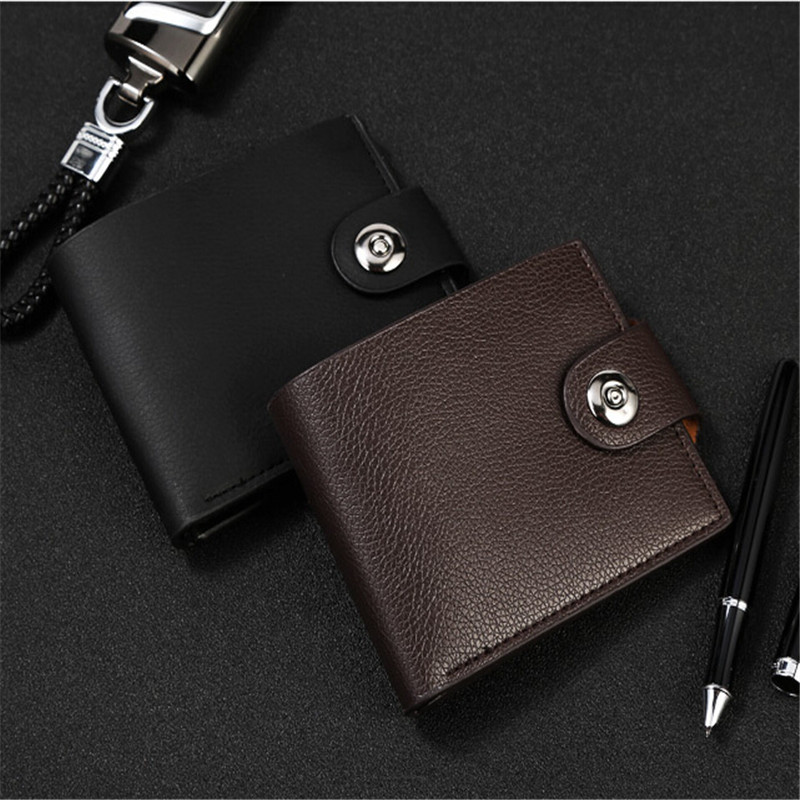 Men Wallet Vintage Leather Hasp Coin Pocket Purse Card Holder Wallet Bag Leather Classic Black Brown Money  Bag Male Clutch