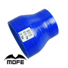 Mofe 51-76 Mm Blauw Straight Turbo Intercooler Pijp 3-Ply Siliconen Overgang Koppeling Slang Reducer(China)