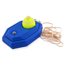 Rubber Tennis Training Machine + Pratice Tennis Ball Add Water Base for Tennis Beginners Trainers Outdoor Sports
