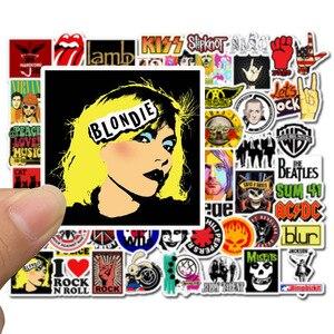 Image 3 - 50 pçs adesivos hip hop rock & roll banda personagem dos desenhos animados graffiti adesivo brinquedos para skate portátil bicicleta decalques f5