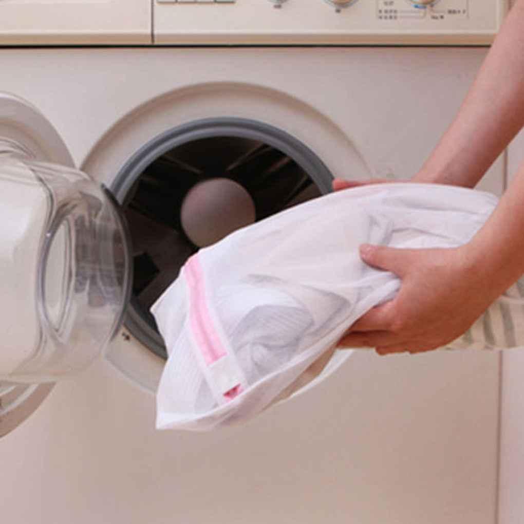 Thicken Laundry Wash Bag Mesh Lingerie Bra Blouse Underwater Washing Travel Storage Bag 3 Size Protection Bag