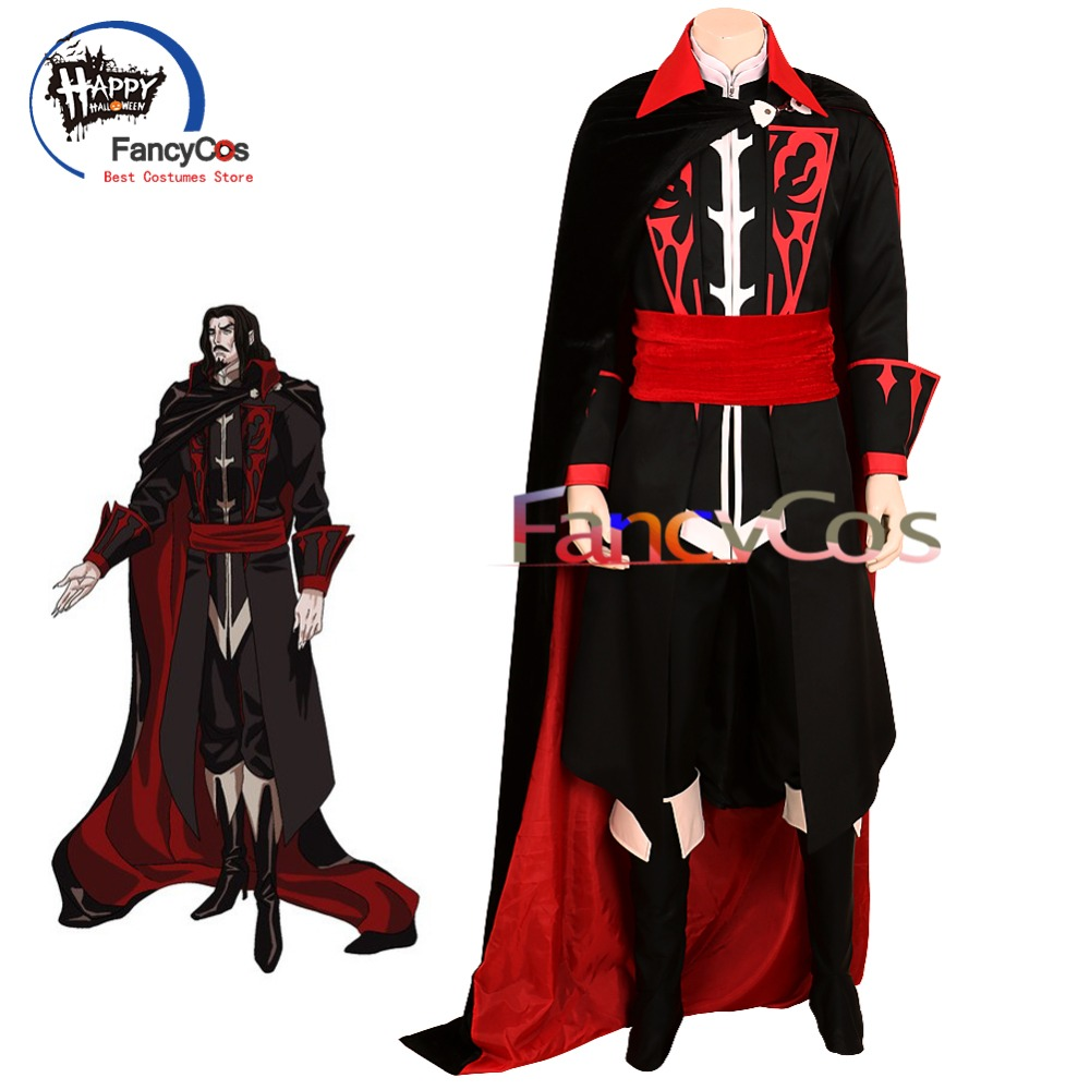 FancyCos 2018 Castlevania Cosplay Dracula Vlad Tepes TV Version Halloween Vampire Costume High Quality Deluxe Custom Made
