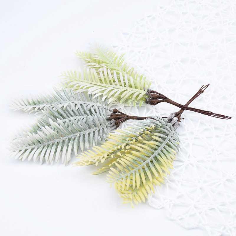 6 uds. De plástico Artificial hierba de agua flores de Navidad guirnalda para decoración del hogar boda fiesta plantas falsas Caja de Regalos diy scrapbooking