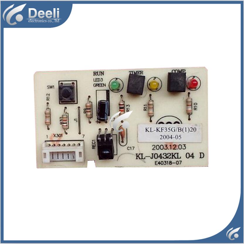 95% new good working for TCL Air conditioning display board remote control receiver board plate KL-J0432KL 04 cs3310 remote preamplifier board with vfd display 4 way input hifi preamp remote control digital volume control board