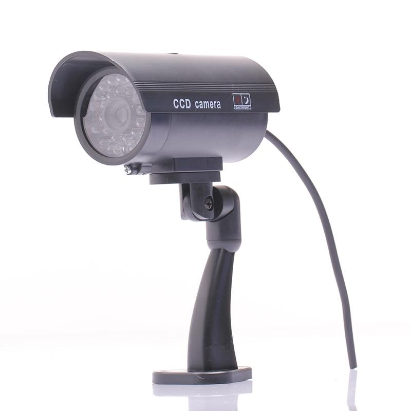 2017 אטים חיצוני אבטחה מזויפות Dummy טלוויזיה במעגל סגור שווא תיבת כדור אור LED הלילה CAM מצלמת מעקב מקורה IR שיכון