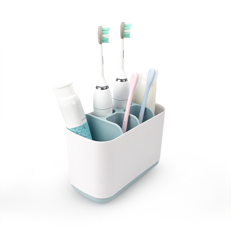 Multiple Slots Bathroom Toothbrush Holder, Large Size Electric Toothbrush Rack and Toothpaste Organizer Bathroom Tools