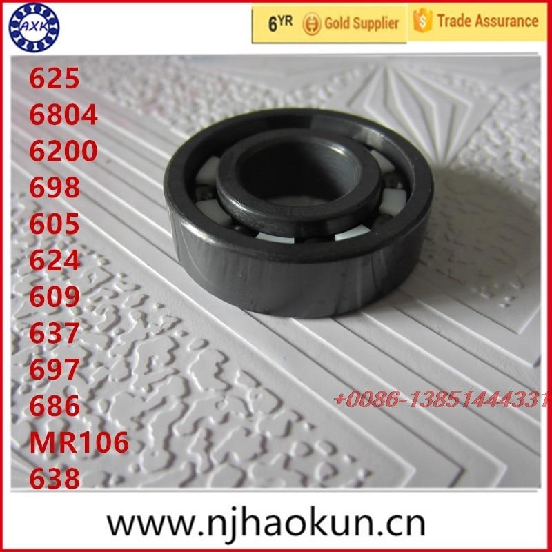Free shipping 1pcs 625 6804 6200 698 605 624 609 637 697 686 MR106 638  full SI3N4 ceramic deep groove ball bearing mantra 1625