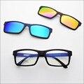 Бесплатная доставка ультра-легкие очки кадр пояса магнит красочные поляризовыванная клип близорукость очки женские солнцезащитные очки jkk77
