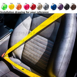Image 5 - EPMAN Universal L:10M Seat Belt Clip  Fasteners Buckle Stop Buttons For Peugot Focus VW Audi BMW EPWR2018M10