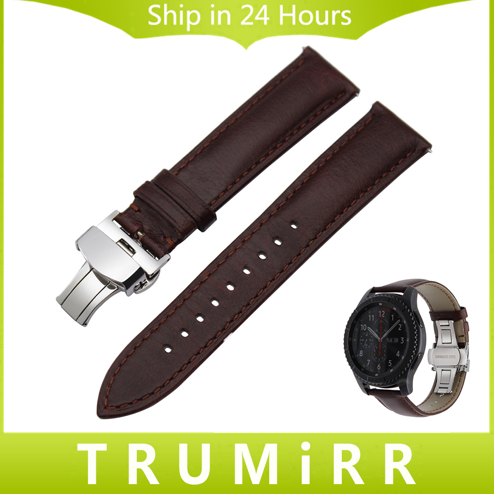 Italian Calf Genuine Leather Watchband for Samsung Gear S3 Classic Frontier Gear 2 Neo Live Quick Release Watch Band Wrist Strap france genuine leather watchband for samsung gear s3 classic frontier r760 770 double color watch band quick release wrist strap