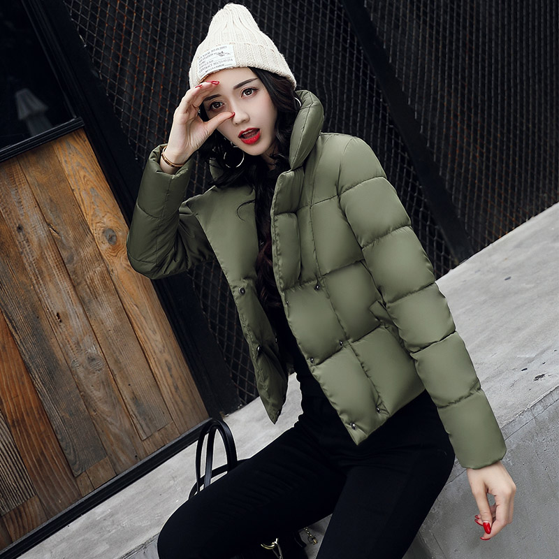 Cockscomb Brand Women   Parka   Women Cotton Padded Full Sleeve Jacket Women Fashion Coat 2018 Autumn and Winter New Arrival