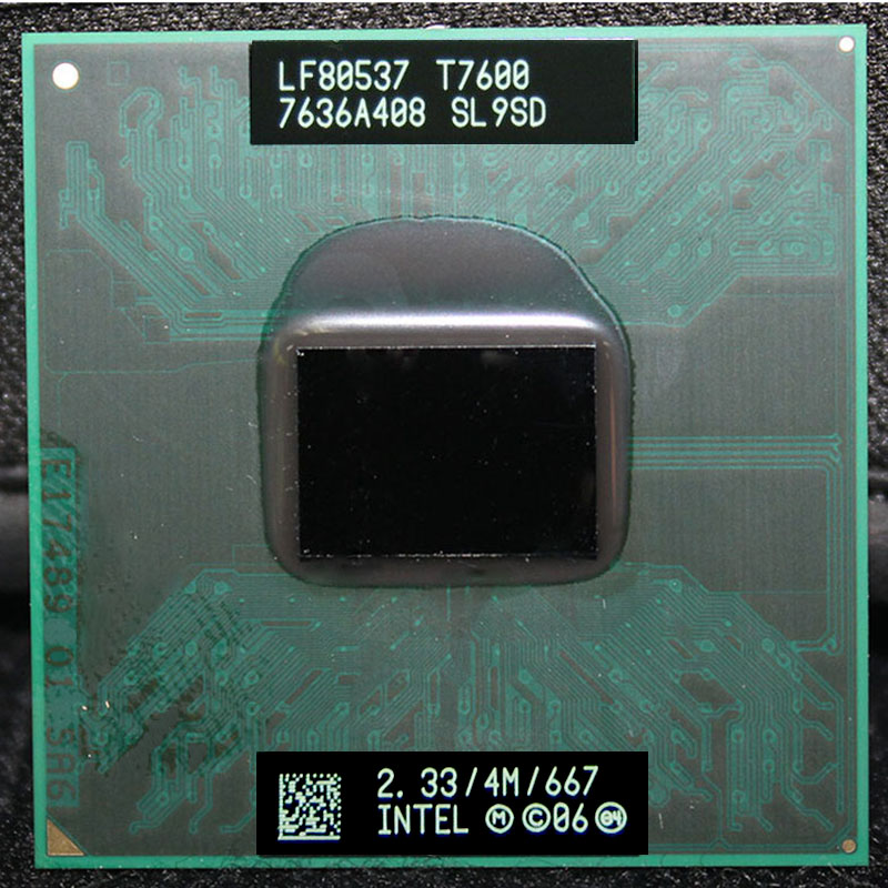 CPU laptop Core 2 Duo T7600 CPU 6M Cache/2.3GHz/667/Dual-Core Socket 478 PGA Laptop processor forGM45 PM45CPU laptop Core 2 Duo T7600 CPU 6M Cache/2.3GHz/667/Dual-Core Socket 478 PGA Laptop processor forGM45 PM45