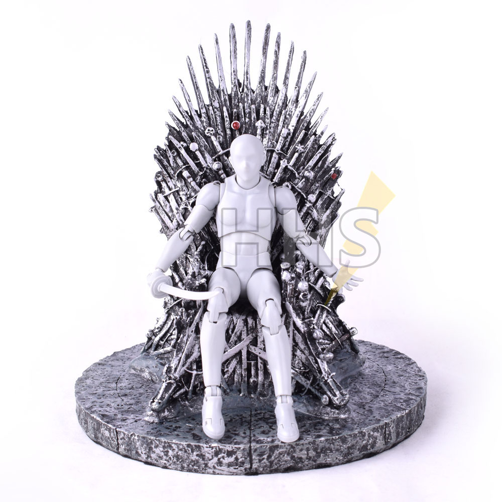 17cm The Iron Throne in Game Of Thrones Action Figure Song Of Ice And Fire Toys 1pc Replica Statue Figurine Model Gifts Figures 17cm the iron throne game of thrones a song of ice and fire action figure toys sword chair model toys chirstmas gift