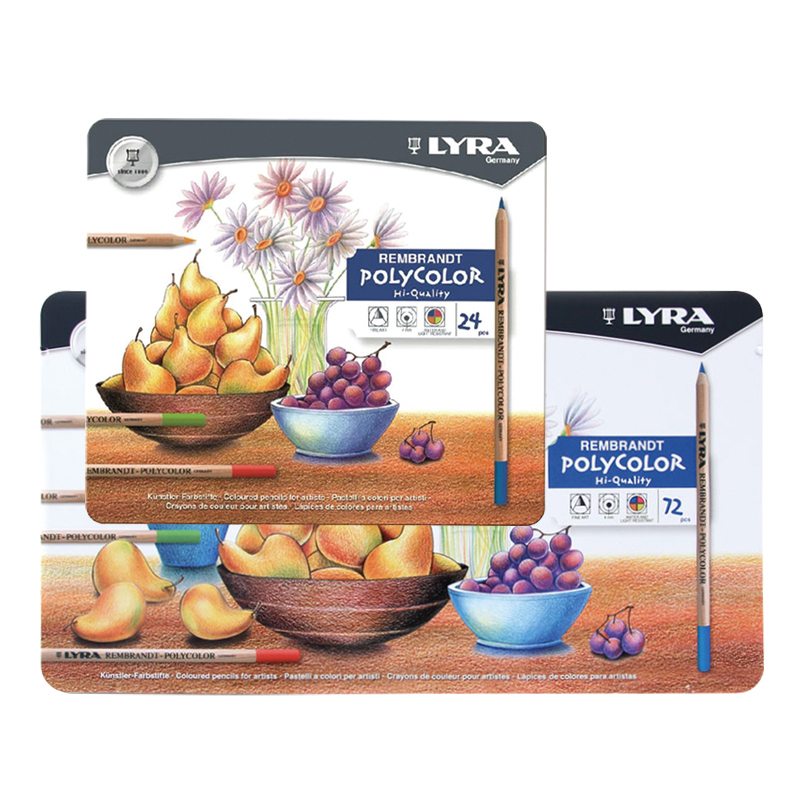 LYRA Rembrandt 12/24/36/72 color oil color pencils art hand-painted design tin box packaging lyra художественный набор rembrandt art specials 11 предметов