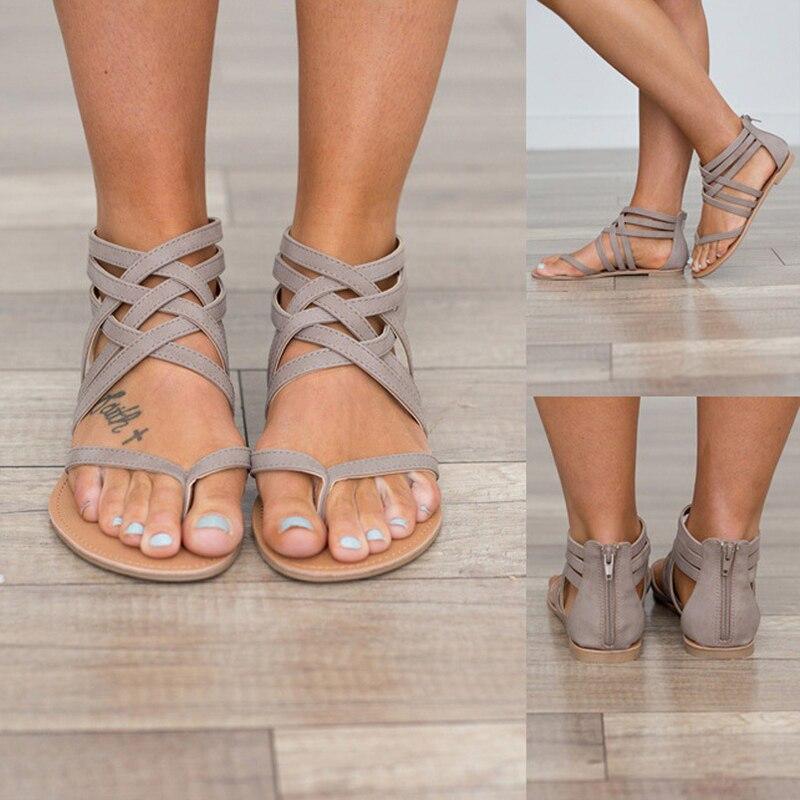 Plus size Summer Women Sandals Soft Bohemia Beach Flat Gladiator Sandals Female Flip Flops Ladies Footwear Women Shoes DC91 6 осевой gyro techno квадрокоптер 2 4ghz 4 канала 1toy
