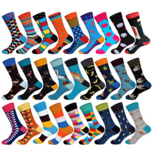 2018 New Arrived Brand Men Socks Funny British Style Casual Animals&Stripes Happy Socks Cotton Long Chaussettes Homme Fantaisie