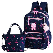 children school bags set girls kids orthopedic backpack primary princess schoobag satchel mochila infantil