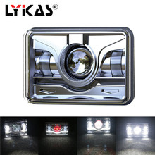 LYKAS 4x6 Square LED Headlights with Daytime Running Lights High Low Beam Replacement For Ford Trucks Offrord 12V 24V 6000K(China)