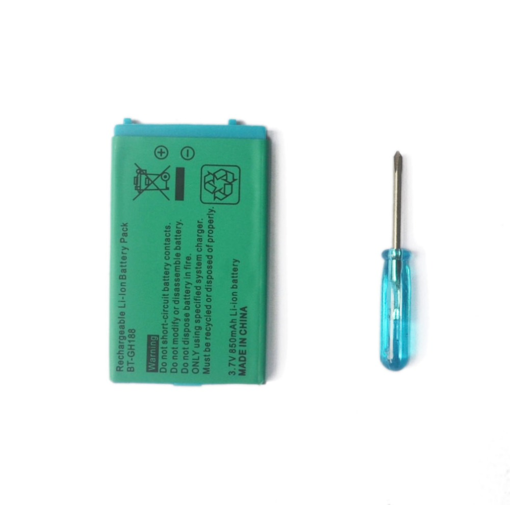 2 X 3.7V 850mAh For Nintend G B A SP Battery Rechargeable Batteries Li-Ion Lithium Replacement With Free Tool Screwdriver