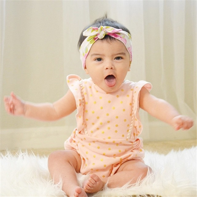 66ecc8630 Flower White Newborn Baby Infant Girl Clothes Floral Backless Romper ...