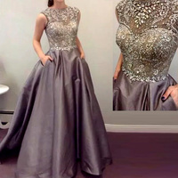 Ballgown Hand Make Crystal Beading Evening Party Prom Gown robe de soiree 2018 Off The Shoulder Mother Of The Bride Dresses