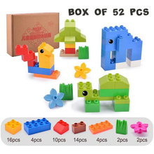 DOLLRYGA 52PCS With Boxed Building Blocks Big Bricks Part DIY Bulk jouet enfant lote Birthday Gift Mixed Colors