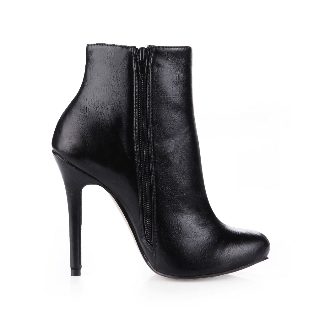 sexy super stiletto high heels women ankle boots fashion elastic band round toe autumn winter warm shoes short boot brand pumps