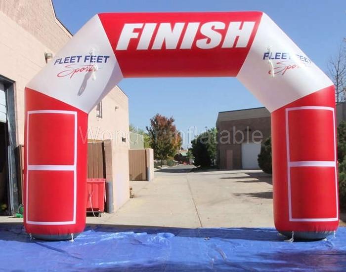 Gratis verzending hot koop buitensporten opblaasbare finish lijn logo - Feestversiering en feestartikelen - Foto 1