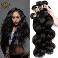Королева Компания Волос Малайзии Девы Волос Объемной Волны 4 Связки дело Малайзии Объемная Волна Suger Девственные Волосы Человеческие Волосы 100% ткачество