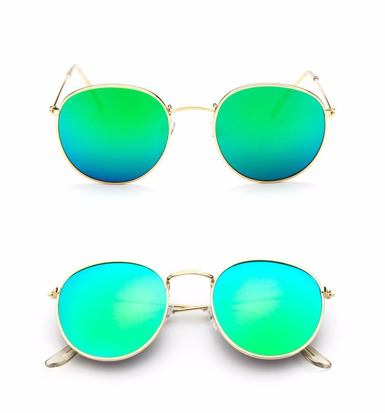 Luxury Brand Design Round Aviator Sunglasses Women Retro Brand Sun Glasses For Women Female Lady Sunglass Driving Mirror Glasses (13)