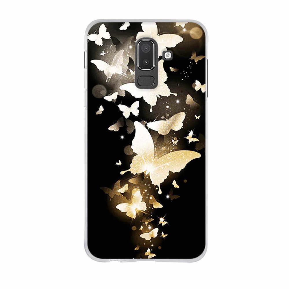 Funda de silicona para Samsung Galaxy J8 2018 dibujos animados 3D impresión parachoques Capa para Samsung J8 J810 TPU espalda para SM-J8 j810F Funda caso