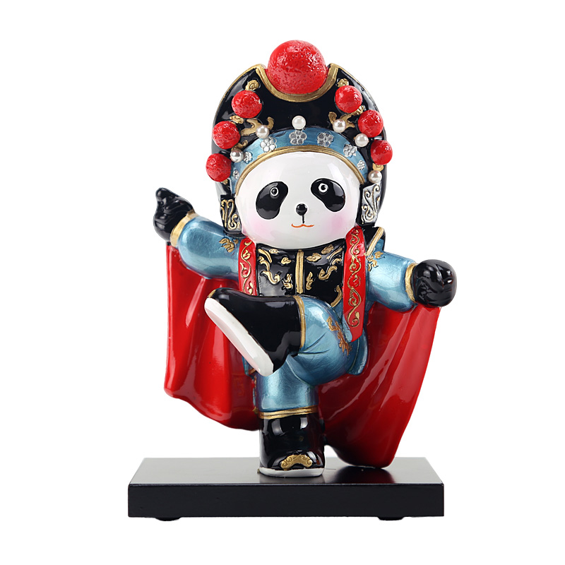 13cm Height Sichuan Opera Panda Dolls Wall Decoration Folk Handicraft Furnishing Articles Chinoiserie Gifts говядина old sichuan 250g 2