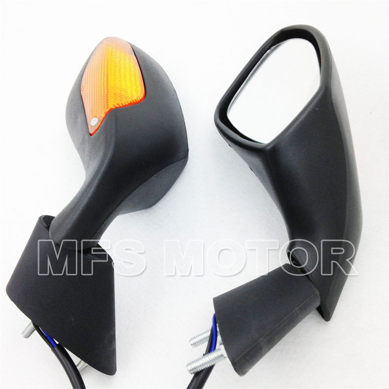 ФОТО Black turn signal rear view mirrors For Aprilia 2004-2008 RSV 1000 2004-2007 RSV Mille/ R Motorcycle