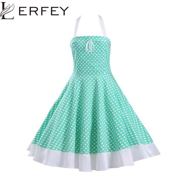 LERFEY Summer Women Dress Polka Dot Sexy Sleeveless Retro Casual Robe Rockabilly  Party Dress Pinup Swing Vintage Dresses 20939ffacd0d