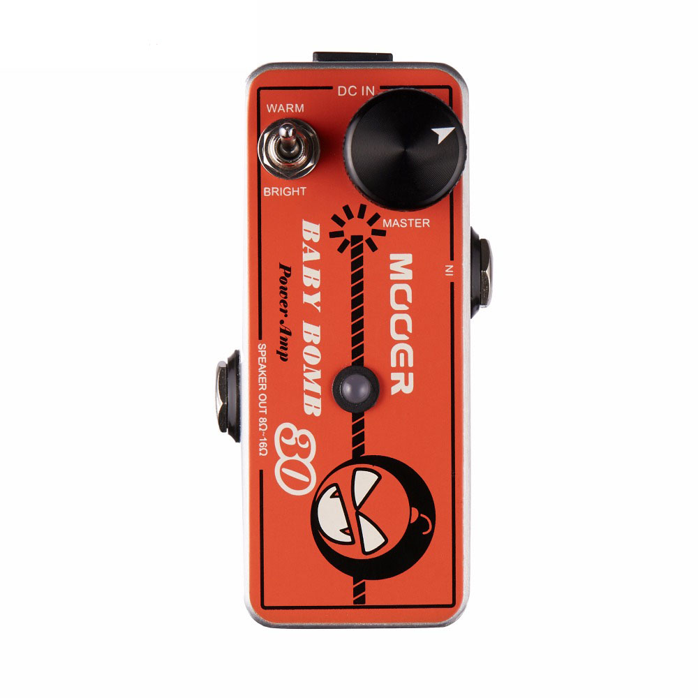 Mooer Baby Bomb 30 30W Digital Micro Power AMP provide smooth post stage overdrive WARM/BRIGHT Switch mooer baby bomb guitar effect pedal master volume provide warm true tube like 30w digital micro power amp bm30