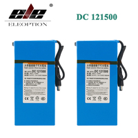 ELEOPTION 2PCS DC 121500 DC 12V 15000mAh Super Powerful Rechargeable Lithium-ion Battery With Plug