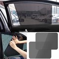 2Pcs Window Foils Sun Shade Car Windshield Visor Cover Block Side Window Solar Sunshade UV Protect Car Window Film Car Styling