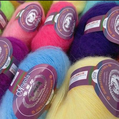 Mylb 1 мяч = 25 г Ангорского шерстяного мохерового жаккарда, Шерстяная трикотажная пряжа, плюшевая тонкая шерстяная пряжа для вязания, плотная гладкая пряжа|wool knitting yarn|knitting yarncrochet yarn | АлиЭкспресс