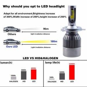 Image 4 - 2 Pcs H7 H3 Led H1 H9 H4 H13 Lamp 60W Koplampen Auto Lamp Met H11 Led Auto Licht 6000K Wit 12V Auto Led Lamp Bh