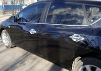 Higher star ABS Chrome 8pcs car Door handle decoration cover+4pcs Door handle bowl for Nissan TIIDA 2011|Chromium Styling| |  -