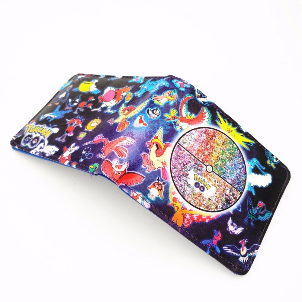 Hot Game Pokemon Go Wallets Pocket Monster Ball Purse Kids Birthday Gift Folder Short Wallet W384