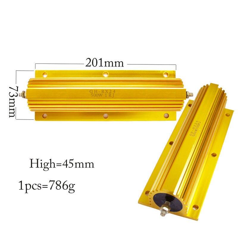 500W 1 2 3 4 5 6 8 15 75 100 80 50 ohm 100% resistencia fija nueva y Original resistencia de aluminio bobinado +/-5% (hecho a medida)