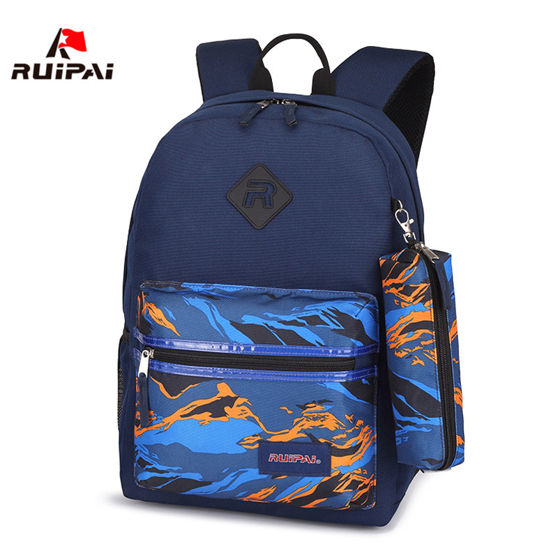 RUIPAI 3 Pieces/set Nylon Children School Bags Waterproof Orthopedic Children Backpacks Girls Boys Camouflage Primary Schoolbags new camouflage primary and middle school students schoolbags boys and girls large capacity waterproofing and lightening