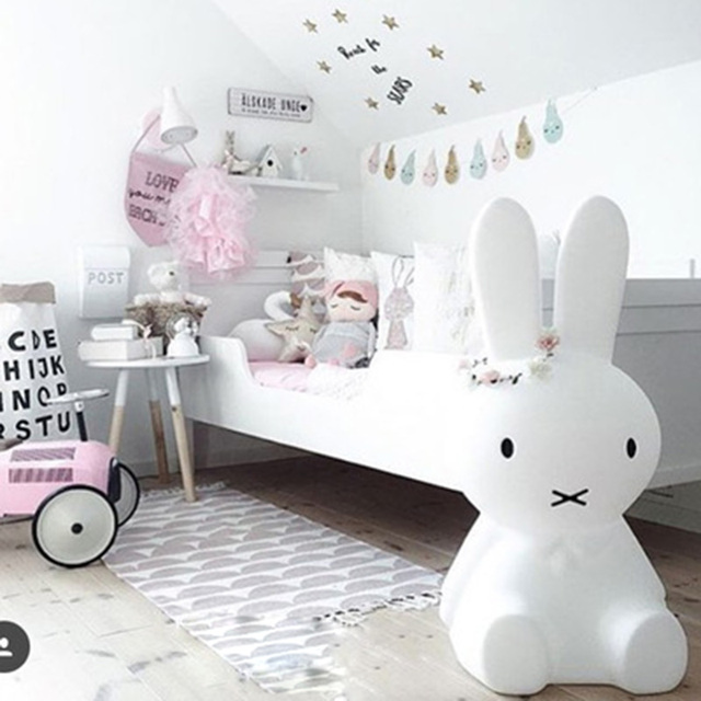 Kamimi 2017 Baby bed room rabbit light 50*25*25cm Anti-fall Children Lamp Christmas Gift Bedside Decoration Kids Lovely Lights