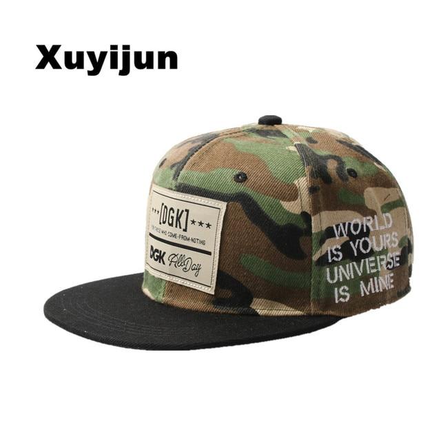 Xuyijun marca snapback caps gorra de béisbol dgk sombrero gorras planas Hip  Hop gorra para hombres f665fe119d1