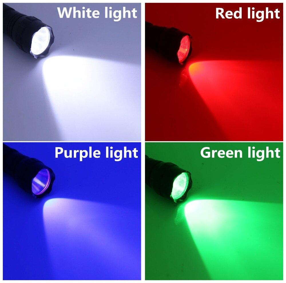 WF-501B UV Violet LED FlashLight 18650 Tactique Torche Chasse Lampe 1 Mode