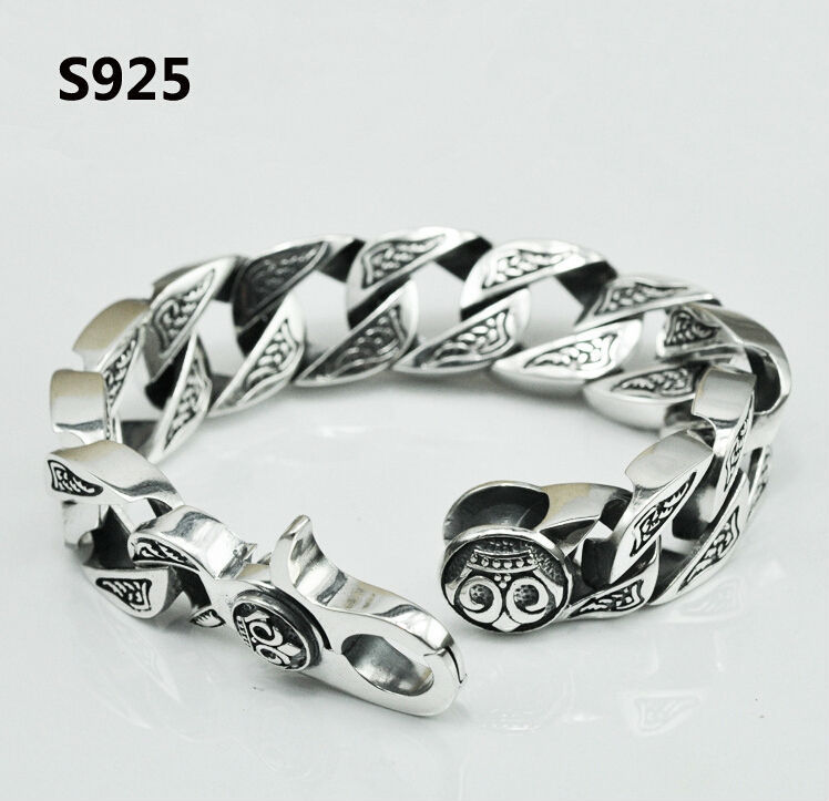 a man personality sterling silver fashion men jewelry for s retro item solid bracelet bangle