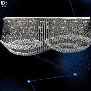 Image 2 - Modern Yaratıcı yüksek dereceli düşük voltaj mühendisliği lamba kristal lamba LED Kristal Işık dikdörtgen Tavan Işıkları L1200xW700mm