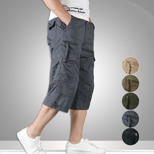 Summer High Quality Men Camouflage Cargo Bermuda Cotton Casual Loose Shorts Multi Pockets Tactical Military Shorts Men Overalls zipper fly multi pockets cargo shorts