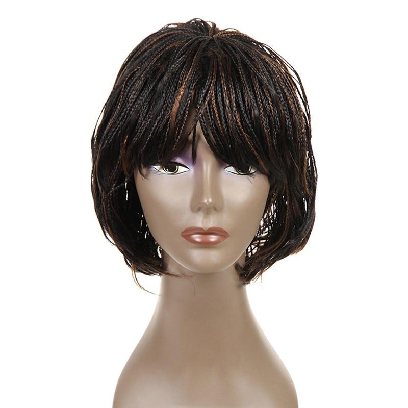 Feibin Box Crochet Braiding Hair Wig Afrikansk Syntetisk Senegalese Fri Frakt